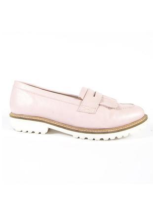 Розовые лоферы летние, пудровые туфли без каблука, пудровые мокасины летние