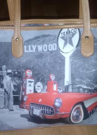 Дизайнерская сумка ynot? кожа канва # голливудская сумочка #оригинал
