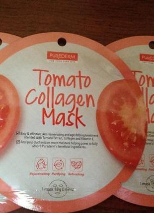 Tomato collagen mask тканевая томатная коллагеновая корейская маска для лица