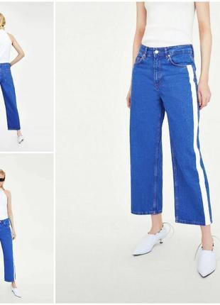 Трендовые джинсы с лампасами мом  zara