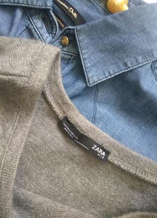 Свитер из шерсти с жемчугом бусинами от zara4 фото