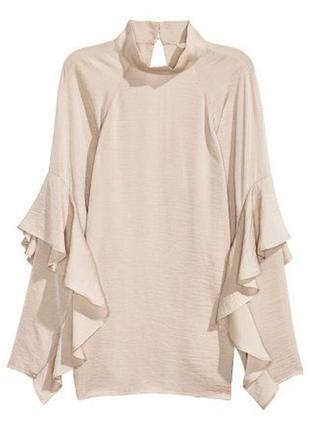 Блуза с воланами h&m p.s-m