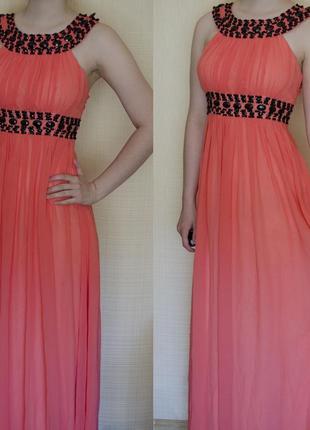 Очень красивое вечернее платье нежного цвета, выпускное платье в пол