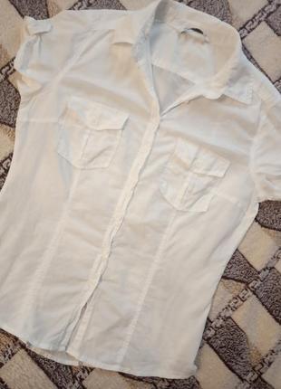 Oodji белая рубашка