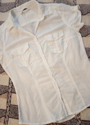 Oodji белая рубашка2 фото