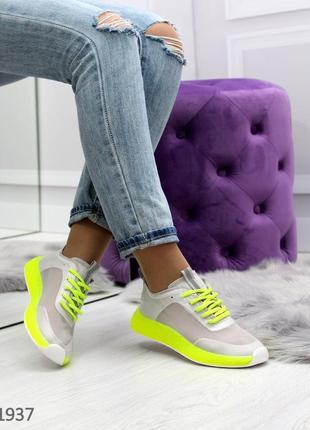 Летние яркие женские кроссовки с кислотными цветами в наличии2 фото