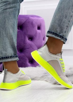 Летние яркие женские кроссовки с кислотными цветами в наличии3 фото