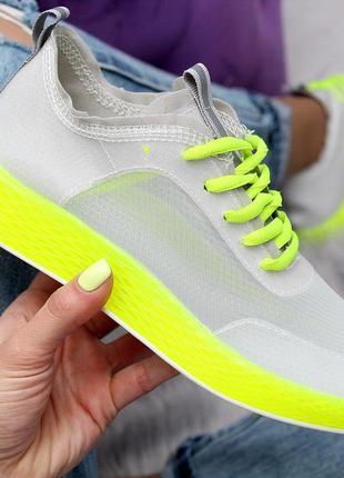 Летние яркие женские кроссовки с кислотными цветами в наличии4 фото