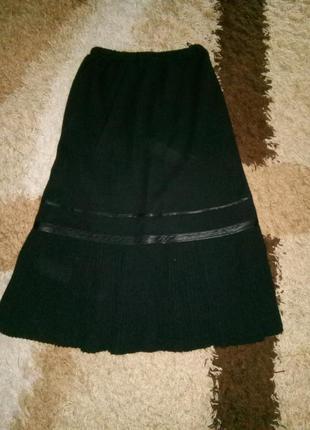 Теплая вязанная юбка р.54 турция