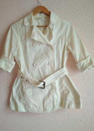 Белый женский пиджак для повседневного ношения весна осень
