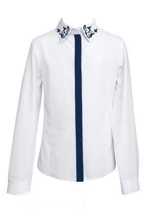Блузка школьная sly 111вs/17 р 152, акция блузка школьная sly 111вs