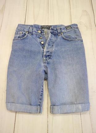 Шорты с подворотами на высокой посадке, versace jeans couture, италия, l-xl