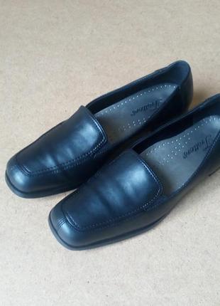 Мокасины туфли trotters кожаные черные