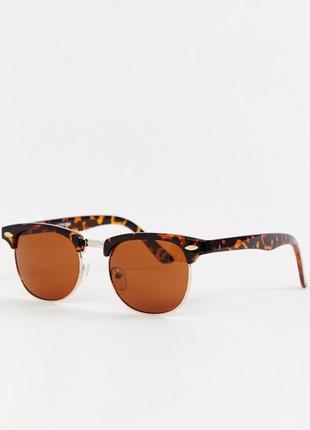 Классические черепаховые солнцезащитные очки в стиле ретро asos design