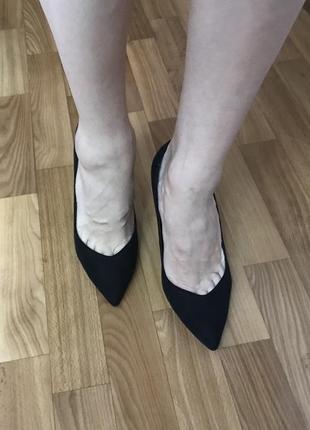 Роскошные туфли лодочки miss selfrige замш 39 размер2 фото