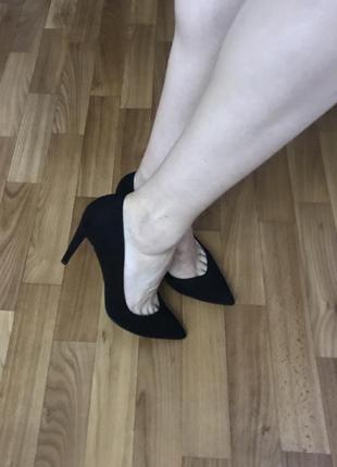 Роскошные туфли лодочки miss selfrige замш 39 размер4 фото