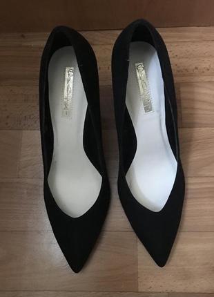 Роскошные туфли лодочки miss selfrige замш 39 размер7 фото