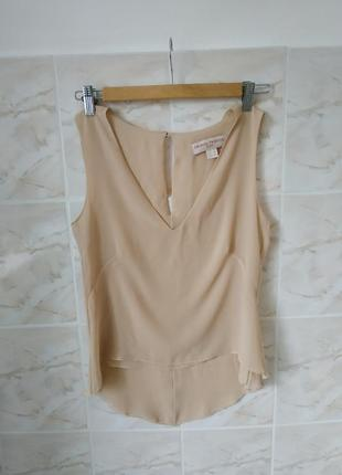 Женская майка,женский бежевый топ, красивая блуза,женская блузка