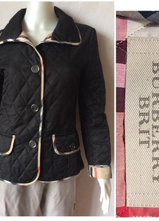 Burberry brit u.k. england стеганая лёгкая куртка стильная ветровка