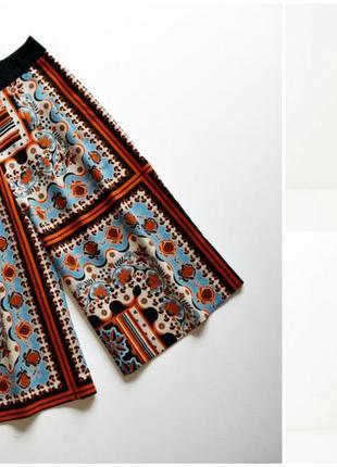 Крутые легкие юбка кюлоты в орнамент