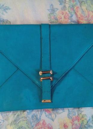 Ярко зеленая сумка планшет asos