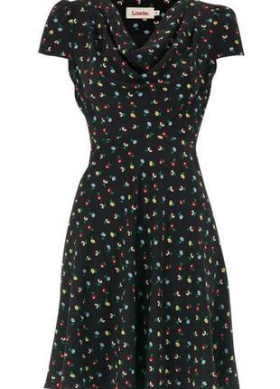 Платье летящее в цветочный принт платье силуэтное платье летнее платье легкое