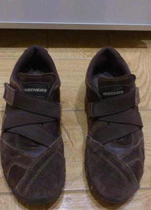 Кроссовки замшевые женские коричневые кросівки замшеві жіночі skechers скечерс р.39