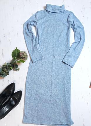 Платье в обтяжку голубое onebyone s-m