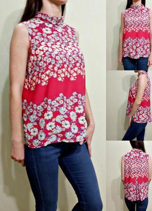 Легкая блуза в цветочный принт 12
