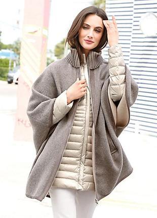 Шерстяное фирменное пальто накидка fuchs & schmitt на размер м