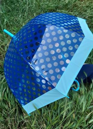 Детский подростковый прозрачный зонт трость для девочки 8-15 лет