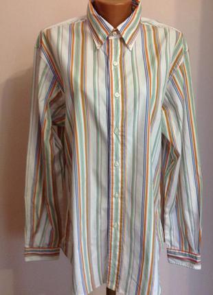 Фирменная мужская рубашка. /l/ brend ralph lauren