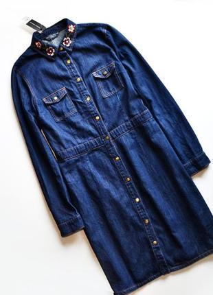 1c97bcce5ac Женские джинсовые платья с вышивкой 2019 - купить недорого вещи в ...