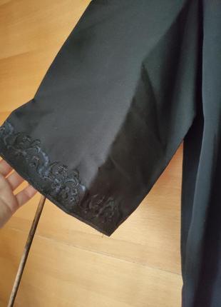 Абая / длинное платье халат на запах с вышивкой3 фото