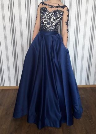 Выпускное, вечернее платье, laura style р. 44