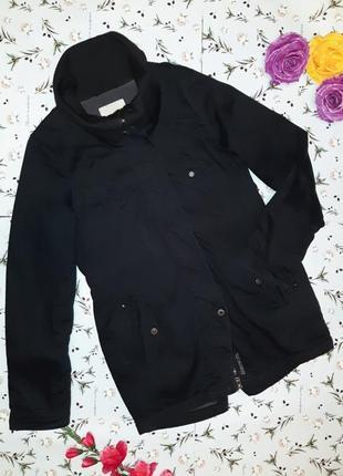 Акция 1+1=3 фирменное черное теплое пальто парка bench, размер 44 - 46