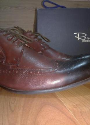 Мужские туфли броги натуральная кожа 43