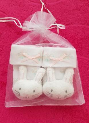 Носочки на подарок для новорожденной