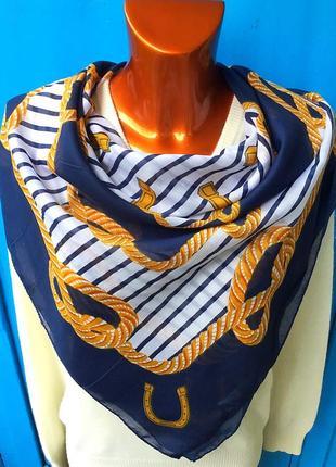 Новый большой платок с рисунком морского стиля от pieces