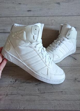 Кроссовки белые адидас adidas hoops team 40 р 26 см