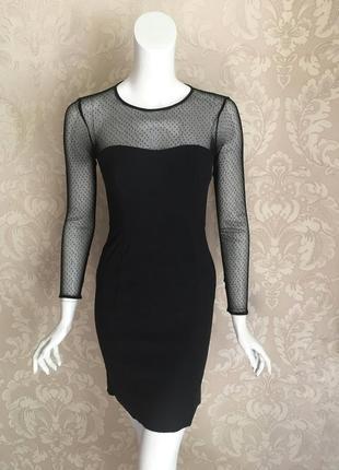 French connection черное нарядное вечернее коктейльное платье