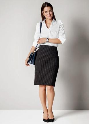 cf4688f004e Классическая юбка-карандаш р. 40 германия esmara черная в полоску офисная