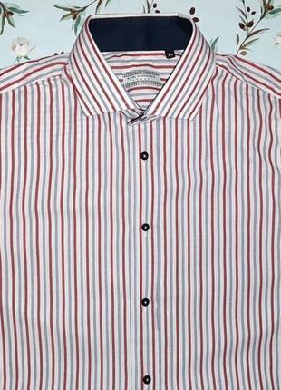 Акция 1+1=3 фирменная итальянская рубашка в полоску, размер 48 - 50