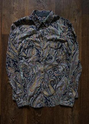 Стильная  рубашка яркий принт 100% котон marc o polo