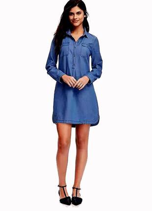 Джинсовое платье рубашка old navy размер s