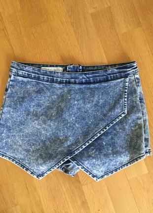 Джинсовые шорты юбка asos