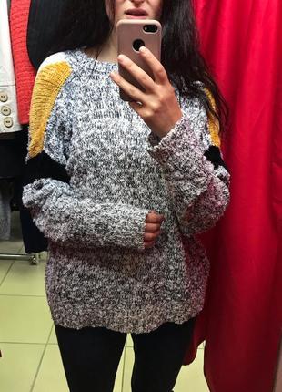 Крутой оверсайз джемпер свитер винтаж c&a