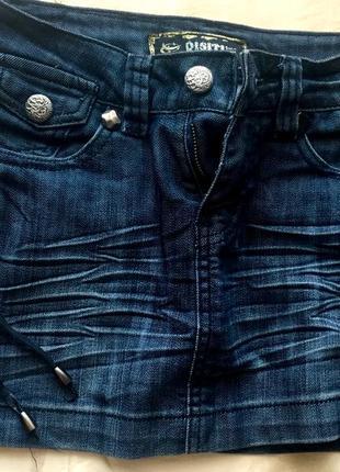 Джинсовая коротка юбка