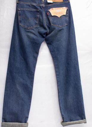 Джинсы мужские новые  с бирками  levis 501  размер w31l32 состояние отличное2 фото