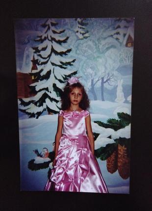 Платье нежно розовое с цветочками